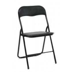 Krzesło składane siedzisko i oparcie skajowe